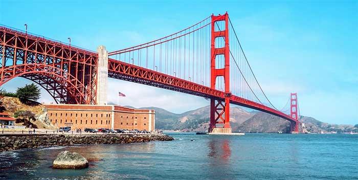 Golden Gate Brudge Not Gold
