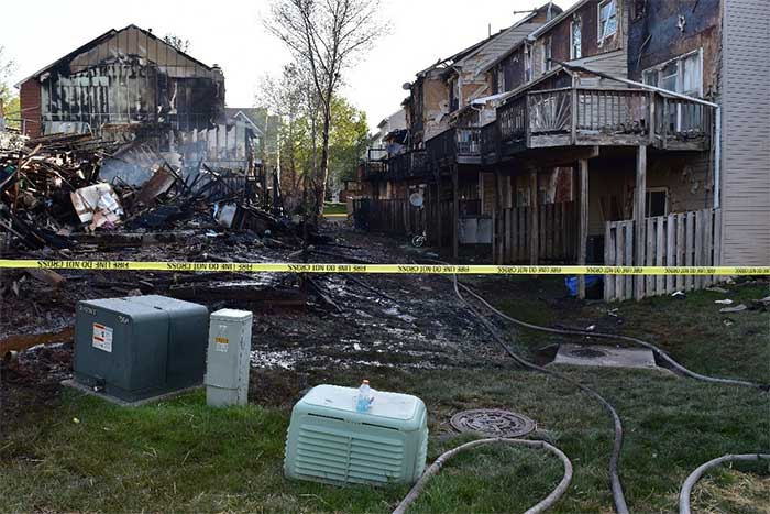 Centreville Fire Aftermath
