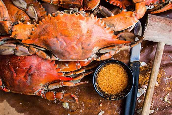 Maryland Blue Crabs Cooking