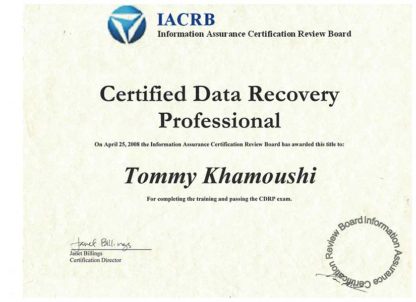 Iacrb Certified Data Recovery | Ttr Data Recovery