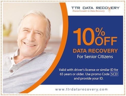 Senior Citizen Coupon Data Recovery | Ttr Data Recovery Services