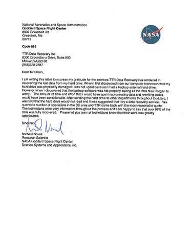 Data Recovery Arlington VA Testimonials 2 Arlington | TTR Data Recovery