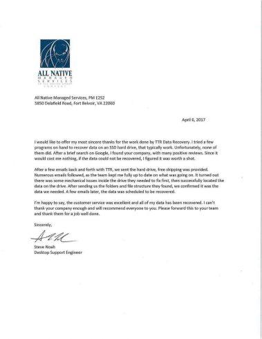 Data Recovery Atlanta Testimonials 4 Atlanta | Ttr Data Recovery